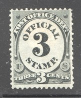OFFICIAL 1873 Post Office Dept. 3¢  Sc O49 MH - Officials