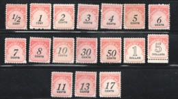 POSTAGE DUE  1959-85 Complete Sets  To $5  SC J88-104  MNH - Postage Due