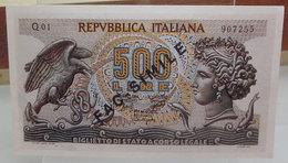 MINI BANCONOTA FAC-SIMILE LIRE 500 - Fictifs & Spécimens