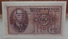 MINI BANCONOTA FAC-SIMILE LIRE CINQUE REGNO D'ITALIA - Fictifs & Spécimens