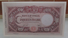 MINI BANCONOTA FAC-SIMILE LIRE CINQUECENTO - Fictifs & Spécimens