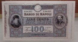 MINI BANCONOTA FAC-SIMILE LIRE CENTO BANCO DI NAPOLI - Fictifs & Spécimens
