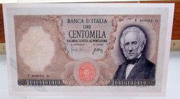 MINI BANCONOTA FAC-SIMILE LIRE CENTOMILA - Fictifs & Spécimens