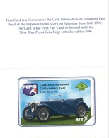 United Kingdom - BTO-129, Cork International Collectibles Fair, Pepsi Cola, 5 U, Fair , 1000ex, 5/95, Mint - BT Overseas Issues