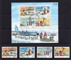 New Zealand 1984 Antarctic Research Set Of 4 + Minisheet Used - New Zealand
