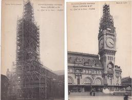 Échafaudages Rapides Hector LIÈVRE & Cie, Quai De La Gare, PARIS - 2 Cartes : Gare De Lyon Et Église Saint-Joseph - Bâtiments & Architecture