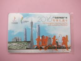 Visit Guangzhou Countesy Card For 2016 Guangzhou Marathon - Phonecards