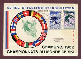 """CHAMONIX  : """" CHAMPIONNATS DU MONDE DE SKI 1962 """" - Ski"""