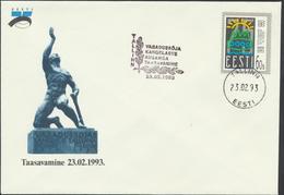 53-334 Estonia Unveiling Monument Of Independence Tallinn 23.02.1993 Mi 200 - Estonia