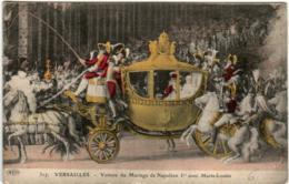 51gr 2014 CPA - VERSAILLES - VOITURE DU MARIAGE DE NAPOLEON 1er - Versailles (Castello)