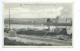 Andenne Vue Sur La Meuse Dans Le Fond La Commune De Seilles ( Belle Péniche ) - Andenne