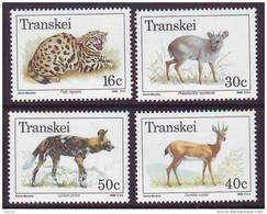 D101225 Transkei 1988 South Africa FERAL CATS WILD DOG Duiker Antelope MNH Set- Afrique Du Sud Afrika RSA Sudafrika - Transkei