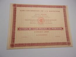 LES COURRIERS DE LA MAYENNE (2520 Francs) LAVAL - Acciones & Títulos