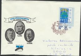 53-365 Estonia  75 Years Of Independence Tallinn 23.02.1993 Mi 202 Rescue Committee Vilms Päts Konik - Estonie