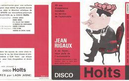 DISQUE 33  TOURS PUBLICITAIRE DISCO HOLTS PRODUCTS BIEVRES PAR LAON AISNE JEAN RIGAUX VOUS PARLE DE L'AUTOMOBILE - Special Formats