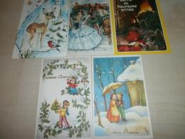 """Lot De 5 Cartes """"Bonne Année"""" - Nouvel An"""