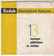 DISQUE 33  TM TOURS PUBLICITAIRE  KODAK 13 MESSAGES EN MUSIQUE - Formats Spéciaux