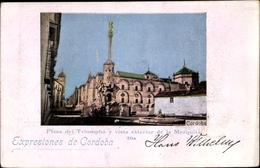 Cp Cordoba Andalusien Spanien, Plaza Del Triumpho Y Vista Esterior De La Mezquita - Autres
