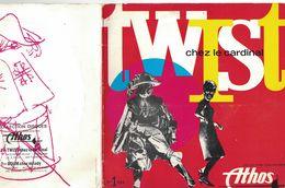 DISQUE 33 TOURS PUBLICITAIRE COLLECTION CHAUSSURES ATHOS ROMANS DROME TWIST CHEZ LE CARDINAL - Formats Spéciaux