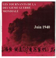 DISQUE 33 TOURS PUBLICITAIRE JUIN 1940 LES TOURNANTS DE LA 2ème GUERRE MONDIALE DIRECTEUR PRODUCTION JEAN-MARIE LE PEN - Formats Spéciaux
