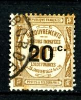 Taxe  49 - 20c Sur 30c Bistre - Oblitéré - Très Beau - 1859-1955 Used
