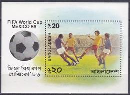 Bangladesch Bangladesh 1986 Sport Spiele Fußball Football Soccer Mexiko Mexico WM FIFA World Cup, Bl. 13 ** - Bangladesch
