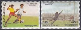 Bangladesch Bangladesh 1986 Sport Spiele Fußball Football Soccer Mexiko Mexico WM FIFA World Cup, Mi. 247-8 ** - Bangladesch
