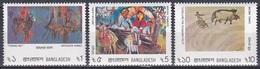 Bangladesch Bangladesh 1986 Kunst Arts Kultur Culture Gemälde Paintings Fischfang Landwirtschaft Heimkehr, Mi. 244-6 ** - Bangladesch