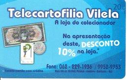 Télécarte Brésil   - Billet Monnaie Money Pièce Numismatique Bank Banque  Phonecard  (G 690) - Francobolli & Monete