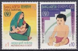 Bangladesch Bangladesh 1985 Organisationen UNO ONU Gesundheit Health Kindersterblichkeit Child Mortality, Mi. 225-6 ** - Bangladesch