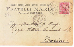 ITALIA - MARRARA (ferrara) - Testatine Pubblicitarie, Fratelli Nardi Viag. 1899 - 2019-102 - Ferrara