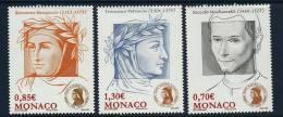 """Monaco YT 2691 à 2693 """" Association Dante Alighieri """" 2009 Neuf** - Monaco"""