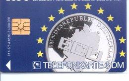 Télécarte Allemagne 5 100 EXEMPAIRES - Monnaie Money Pièce  ECU Germany Deutsche Bank Europe (G 694) - Timbres & Monnaies
