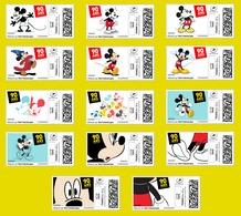 France 2018 TimbrEnLigne Mickey 90 Ans D'enthousiasme - Série 1 - 14v - MNH - Neuf - Personnalisés (MonTimbraMoi)
