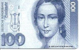 Télécarte Allemagne 30 000 EXEMPAIRES - Monnaie Money Pièce Germany Deutsche Bank Banque (G 695) - Timbres & Monnaies