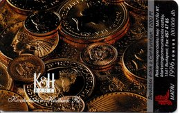 Télécarte Hongrie Monnaie Money Pièce  Numismatique Bank  (G 697) - Hongrie