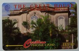 SAINT LUCIA - GPT - 17CSLB - $40 - STL-17B - The Great House - VF Used - Santa Lucía