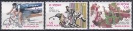 Bangladesch Bangladesh 1984 Sport Spiele Olympia Olympics Radfahren Hockey Volleyball Los Angeles, Mi. 220-2 ** - Bangladesch