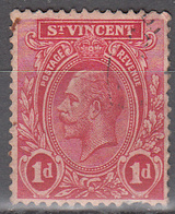 ST VINCENT     SCOTT NO  105      USED      YEAR  1913   PRICE DISCOUNTED FOR SHORT PERFS - St.Vincent (...-1979)