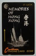 SAINT LUCIA - GPT - 14CSLF - $40 - STL-14F - Memories Hong Kong 1 - VF Used - St. Lucia