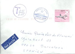 LETTER 2004 PAQUEBOT  TAXE - Finland