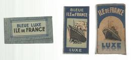 Lame De Rasoir , Boite De 5 Lames, BLEUE ILE DE FRANCE ,LUXE ,made In France ,pharmacie Bailly , Paris ,frais Fr 2.45 E - Lames De Rasoir