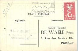 CARTE POSTALE 1959  GRENOBLE - Marcofilia (sobres)