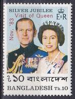 Bangladesch Bangladesh 1983 Persönlichkeiten Royals Besuch Visit Königin Elisabeth II. Queen Prinz Philip, Mi. 194 ** - Bangladesch