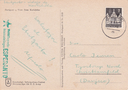CPA Allemagne - Stuttgart - Blick Von Der Karlshöhe - Griffe Esperanto  - 1948 - Esperanto