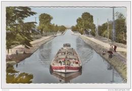 47 - AGEN - Le Pont Canal - Péniche Notre Dame De La Garde - Pêcheurs - 2 Scans - - Houseboats