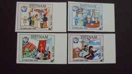 Vietnam Viet Nam MNH Imperf 1985 :12th World Youth & Students' Festival Moscow / Lighthouse / Electricity (Ms470) - Vietnam