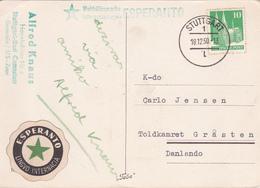 CPA ESPERANTO  + Cachet Esperanto - 1950 - A Gojan Kristnaskon Kaj A Felican Novjaron - ETAT - Esperanto
