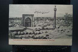 CPA Carte Ancienne Téhéran Iran Cachet Timbre Meched Vue Général Semnan Sur La Route De Téhéran à Meched - Iran