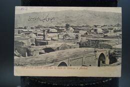 CPA Carte Ancienne Téhéran Iran Cachet Timbre Meched Vue Général Eucané Keife Sur La Route De Téhéran à Meched - Iran